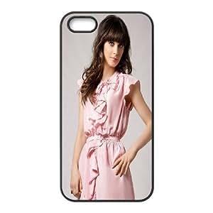 iPhone 5 5s Cell Phone Case Black Zooey Deschanel 2 JSK919229