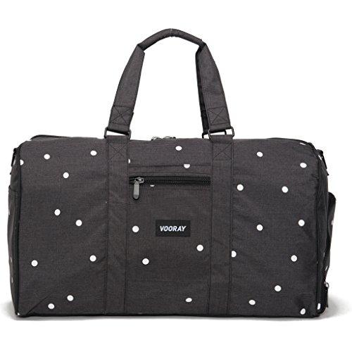 vooray-trepic-43l-weekender-duffel-bag-heather-black-polka-dot