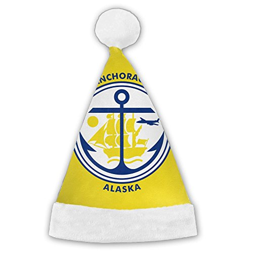 WEN7Q Flag Of Anchorage Christmas Hats For Kids Adult Christmas Gifts Nice Santa Hats Holiday Decorations ()