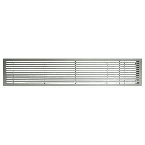 Architectural Grille 200043021 AG20 Series 4'' x 30'' Solid Aluminum Fixed Bar Supply/Return Air Vent Grille, Brushed Satin with Right Door by Architectural Grille