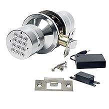Signstek Keyless Digital Electronic Entry Security Safety Door Lock Locker (Silver)