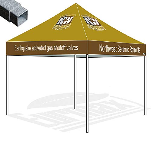 - Eurmax 10x10 Ez Pop up Canopy Custom Tent Imprinted Fair Vendor Tent with Your Logo Bonus Roller Bag