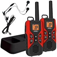 Uniden GMR3055-2CHS Black Edition GMRS/FRS Two-Way Radio With Extra Long Battery Life, Call Button, and Battery Strength Meter – BLACK & RED