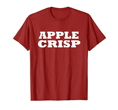 Apple Crisp Food Halloween Last Minute Costume Party T Shirt -