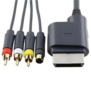 Nuevo S Video Compuesto AV Cable CORDON Para Xbox360 TV Juegos