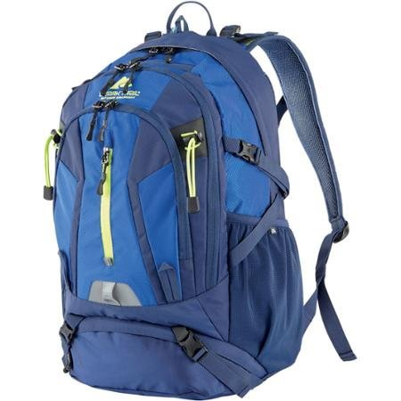 Ozark Trail 36-Liter Multiple Compartments for Added Gear Storage and Organization, Hydration-compatible, Kachemak Daypack, Dark Blue