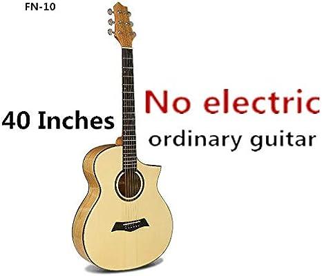Guitarra de cuerpo en A de 40 pulgadas, 6 cuerdas, acústico ...