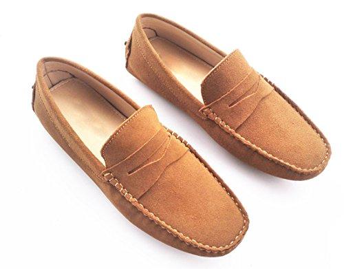 Shoes Tan Loafers Mens TDA Stripe Moccasin Suede Boat Light Hot Multi Color 6wFqwzP