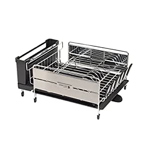 Sabatier Expandable Compact Dish Rack With Wine Glass