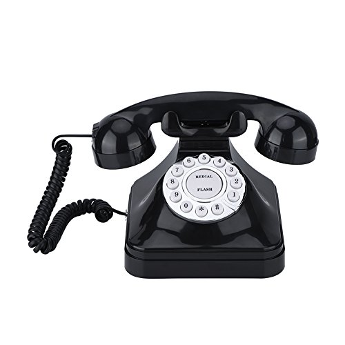 Vbestlife Retro Wire Landline Phone, WX-3011 Vintage Black Plastic Home Telephone with Multi Function and Skid Proof Pedestal/One-line/Easy Use/Black from Vbestlife