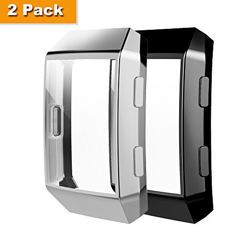 Fitbit Ionic Case, Belyoung TPU All-around Full Front Screen Protective Case for Fitbit Ionic Smart Watch 2pcs by Belyoung