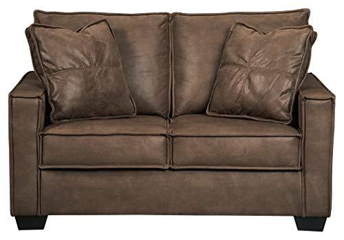 Sofa Faux Loveseat Leather (Ashley Furniture Signature Design - Terrington Contemporary Upholstered Loveseat - Harness)
