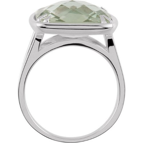 for HER Green Quartz Antique Square Sterling Silver Ring The Mens Jewelry Store Size 6.5 to 7