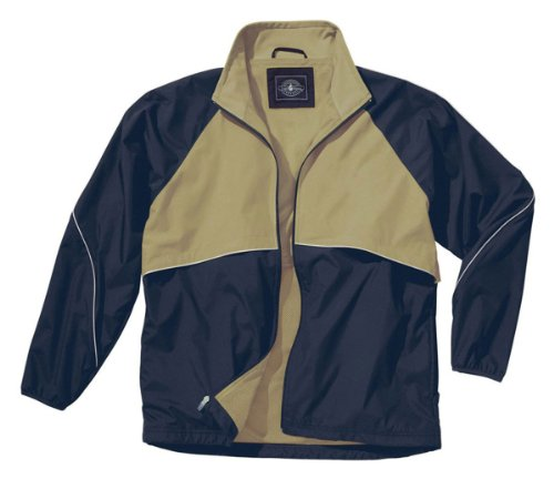 Charles River Apparel Men's Mesh Lined Sports Jacket, Navy/Vegas Gold, XX-Small