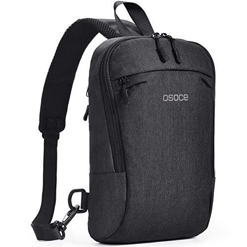 OSOCE Sling Chest Cross Body Bag, Shoulder Backpack Pack for Travel Sports (Dark Grey)