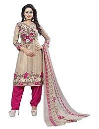 CRAFTSTRIBE Cocktail Indian Suit Party Wear Women Polyester Unstitched Salwar Kameez Dress