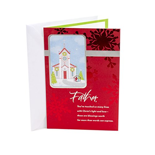 DaySpring Religious Christmas Greeting Card for Priest (Father's Faithful Service) Christmas Greetings