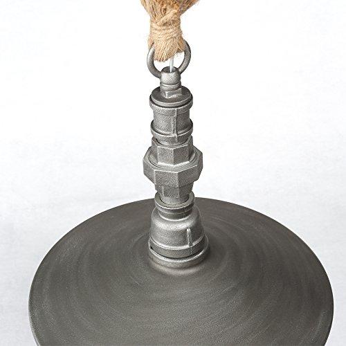Retro Edison Pendant Light, 1 Light Semi Flush Mount Ceiling Light, Industrial/Country Style Pendant Lamp, Galvanized Steel Finish by Chrasy (Image #7)