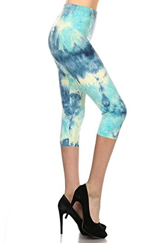 Capri Tie Dye Tights - R984-CA-PLUS Arctic Tie Dye Capri Print Leggings