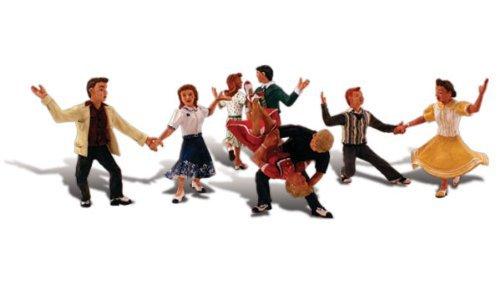 Woodland Scenics Scenic Accents Swingin' Sensation 1950's Era Dancers (4 Couples) HO - Scenic Scale Figures Accents