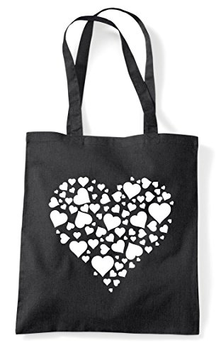 Black Hearts Tote Of Design Bag Heart Shopper AwSxTY5