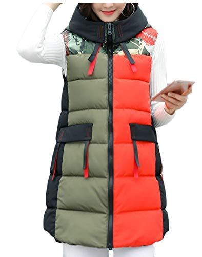 Women's Mid Length Quilted Vest 2 Puffer security Jackets Winter Down BEwdBfq