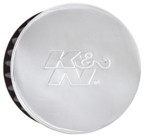 K&N 62-1460 Vent Air Filter/Breather: Vent Air Filter/Breather; 1.5 in (38 mm) Flange ID; 2.5 in (64 mm) Height; 3 in (76 mm) Base; 3 in (76 mm) Top
