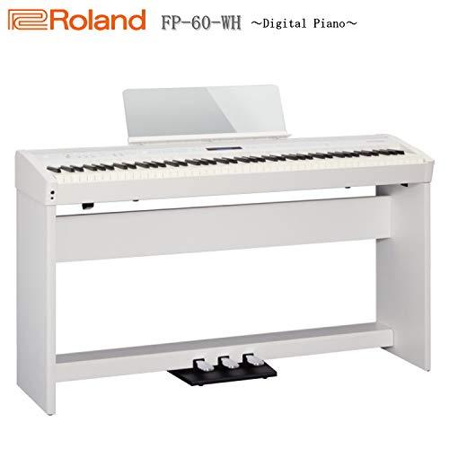ローランド 電子ピアノ FP-60 ホワイト/Roland【純正スタンド&3本ペダルユニット付き】   B07PN7TPP7