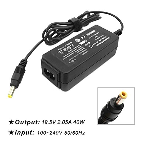 LPCAL 40W 19.5V 2.05A 14 Ft AC Adapter Laptop Charger for Hp Mini 110 110-3030nr 110-3135dx 110c 210 210-1000 1010 1010ca 1010nr 1050nr 1070nr 1080nr 1085nr 1090nr 1092dx 1095nr Pa-1400-18hl 584540-00