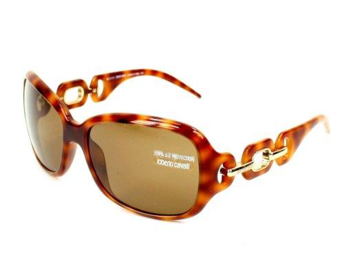 Roberto Cavalli Womens RC516SSW53J Rectangular Wrap Sunglasses,Red Havana Frame/Roviex Lens,One Size