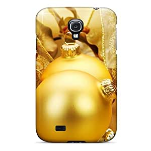 For Galaxy S4 Premium Tpu Case Cover Yellow Christmas Tree Globes Protective Case