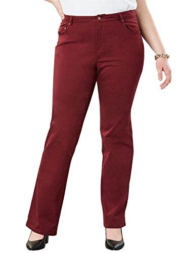 Jessica London Womens Plus Size Tall True Fit Bootcut Jeans