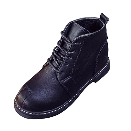 - HOT Sale ,AIMTOPPY Woman Ankle Boots Lace-Up Low Heels Autumn Boot Four Seasons Shoes (US:6.5, Black)