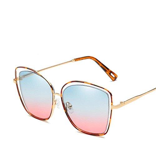 gafas de hombre de hueco Aoligei Unidos Estados grandes sol de gafas viento de sol gafas sol E metal cuadrado y de Europa tendencia moda señora qzggwF1O