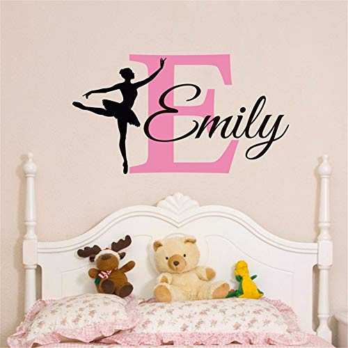 Vinyl Wall Statement Family DIY Decor Art Stickers Home Decor Wall Art Beautiful Personalized Name Ballerina Custom Baby Girls Home Girls Bedroom Wall Nursery Decor]()