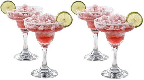 Epure Venezia Collection 4 Piece Margarita Glass Set – Classic for Drinking Margaritas, Pina Coladas, Daiquiris, and…