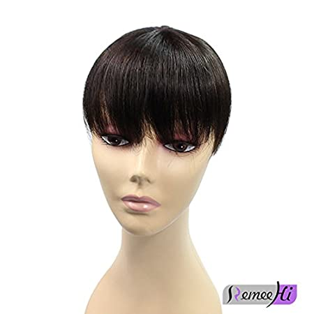 Remeehi 15,2cm topper per capelli, clip in Hair top Piece Bangs extensions