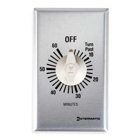 60 Min Spring (Intermatic FF360M Timer SPDT Spring Wound, 60 min, Silver)