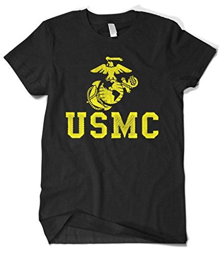 United States Military Marines T-shirt - Cybertela Men's United States Marine Corps USMC T-Shirt (Black, X-Large)