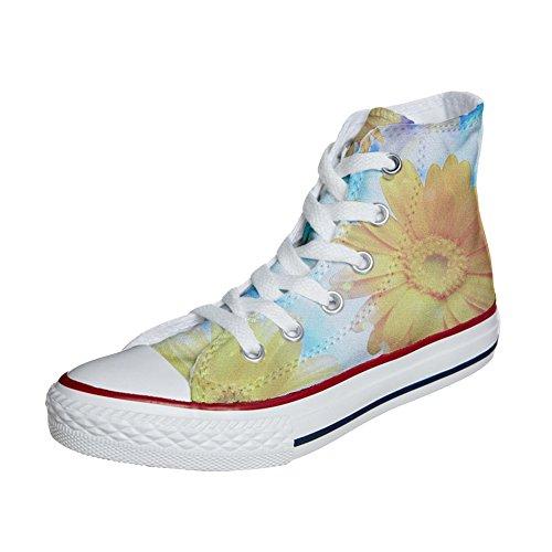 Converse All Star zapatos personalizados (Producto Artesano) Primavera girasol