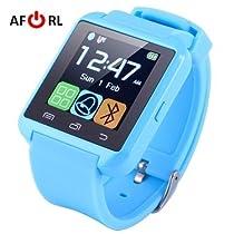 Amazingforless Bluetooth Touch Screen Smart Wrist Watch (U8 - Sky Blue)