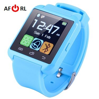 (Amazingforless Bluetooth Touch Screen Smart Wrist Watch (U8 - Sky Blue))