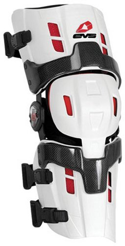 EVS Sports RS8 Pro Left Knee Brace (White, Small)