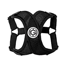 Gooby - Comfort X Step-in Harness, Small Dog Harness with Patented Choke Free X Frame, Black, X-Large