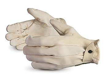 Superior 378C Endura Canadian Roper Cowhide Leather Glove with Adjustable Snap Back, Work, Medium (Pack of 1 Dozen)