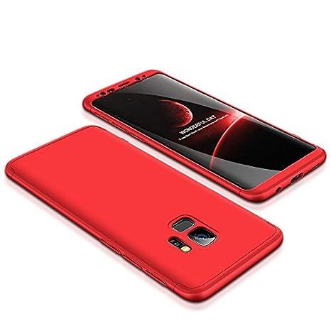 Shinyzone Samsung Galaxy S9 Plus 360 Gradi Protezione Completa 3 in 1 Design Custodia, Ultra Sottile Duro PC Cover Leggera Antiurto Anti-Graffio per Samsung Galaxy S9 Plus, Oro Nero
