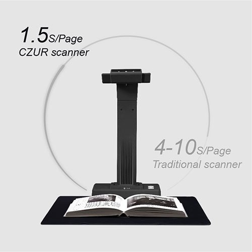 CZUR ET18 Pro Advanced Professional-Level Book & Document Scanner with  Smart OCR for Mac and Windows, Patented Laser Auto-Flatten & Deskew  Technology,