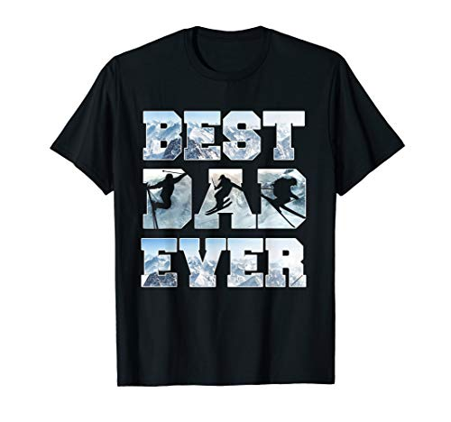 Skier Best dad ever 2019 tshirt Fathers day 2019 gift