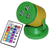 CITRA DJ Par Light 3 LEDs 512 RGBW with 24 Key Remote Controller Color Mixing Light for Disco Diwali Christmas Party Show Live Concert Stage Lighting