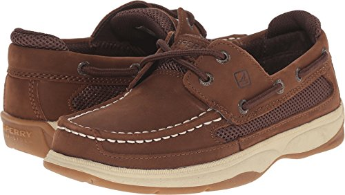 Sperry Boy's Kids, Lanyard Boat Shoes Brown 4 M by Sperry